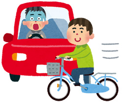 車と自転車の交通事故